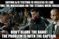 Bad musicians blame their instruments