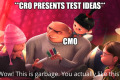 Prioritize your best ideas...that the CMO likes