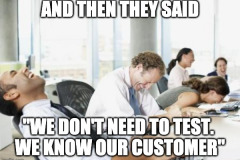 We don't need to test