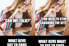 What devs really want to say